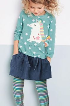 Buy Aqua Unicorn T-Shirt With Tights (3mths-6yrs) online today at Next: Belgium