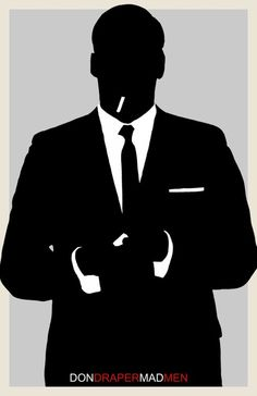 Mad Men 1960's Silhouette, Don Draper, Man, Suite, Personalized, Custom, Custom…