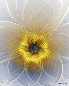 fractal / mandy moore * imagine it paper art, layers, quilling and or sliceforms * Fractal Images, Fractal Art, Computer Kunst, New Media Art, Fractal Design, Mellow Yellow, Sacred Geometry, Geometric Shapes, Beautiful Images