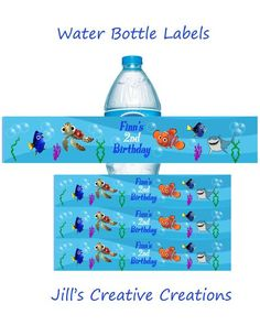 Finding Nemo Water Bottle Labels Please feel free to contact us if you have any questions placing an order jillsinvitations@gmail.com