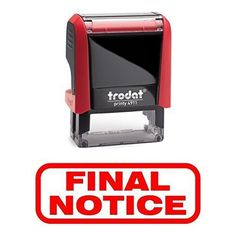 FINAL NOTICE Office Self-Inking Office Rubber Stamp (Red) - M