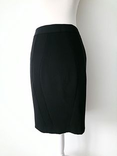7bfd2d2682 TED BAKER SIZE 8 / 1 TB LADIES THEAAS BLACK PENCIL PANELLED TAILORED SKIRT # fashion