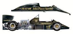 Lotus 97T art auto automotive-art drawing F1 Ayrton Senna Michel Verrando painting Renault EF Illustration