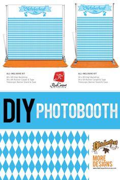Photo booth for Oktoberfest events. Traditional Munich Germany pattern. Bier Oktoberfest Orange Carpet. Best party idea.
