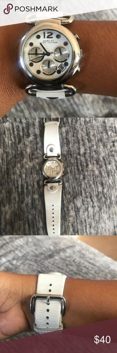 Marc by Marc Jacobs Watch Authentic lightly worn Marc by Marc Jacobs white leather band watch. Marc By Marc Jacobs Accessories Watches