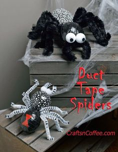 Creepy, but cute Halloween Spiders. The largest is more than 12