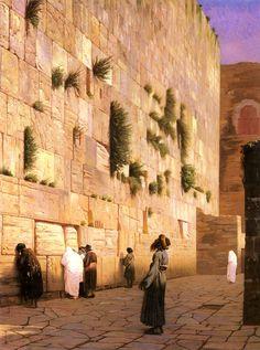 Jean-Leon Gerome (Jean Leon Gerome) (1824-1904)  Solomon's Wall Jerusalem  Oil on canvas