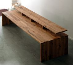 Cliff Spencer reclaimed wood editing desk.... Think of all that could be accomplished with this desk. Yes, the possibilities are surely endless... 'tis the object of the cat's longing.