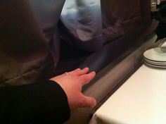 """Picture courtesy Courtney Brummer-Clark """"And to illustrate the fantasticality of our seats, Todd took this picture of his arm rest … otherwise known as """"the stage.""""   HARVEY starring Charles Shaughnessy #NewTheatreRestaurant in Overland Park, Ks  @Courtney Brummer-Clark"""