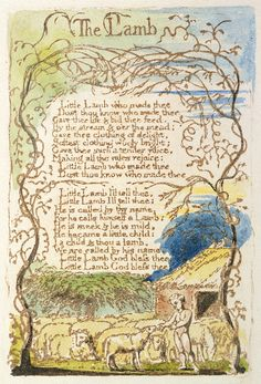 """Would love William Blake's """"The Lamb"""" in a more contemporary type and illustration."""