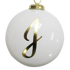 Monogram Glass Disc Christmas Ornament - Wondershop™ : Target