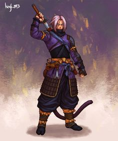 Dragon Ball characters imagined in samurai version - Dragon Ball – Samurai Trunks - Dragon Ball Goku, Japan Expo, Thanos Avengers, Fan Art, Character Art, Comic Art, Cosplay, Anime Art, Characters