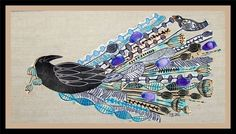 Buy Ravens Wedding, XL linocut, textile collage with embroidery, Linocut by Mariann Johansen-Ellis on Artfinder. Discover thousands of other original paintings, prints, sculptures and photography from independent artists.