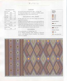 Барджелло: описание техники в итальянскй и флорентийской вышивке с большим количеством схем