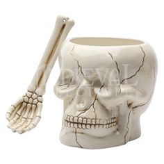 Skull Bowl and Spoon - CC8183 by Medieval Collectibles