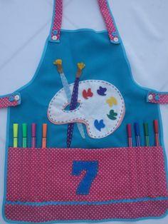 AVENTAIS INFANTIS (ARTESANATO) - CHILDREN'S APRONS (DIY)