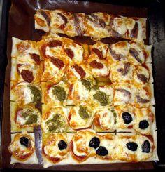 Mini Pizza Squares, finger-food