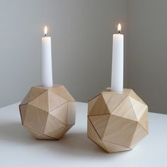 polyhedron candle holder