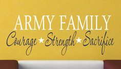 Military Family Vinyl Wall Decal - Military Decor - Vinyl Wall Art. $16.00, via Etsy.