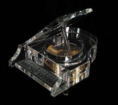 Crystal Grand Piano Music Box  musicjewelrybyallegro.com