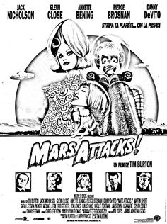 Free coloring page coloring-movie-mars-attack. 1996 Tim Burton movie Mars Attacks !