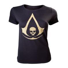T-Shirt Femme Assassin's Creed IV - Black Flag #AssassinsCreed #BlackFlag #WAF