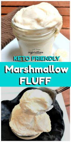 Keto Jet Puffed Marshmallow Creme Fluff Recipe This keto marshmallow creme fluff recipe is delicious and brings back so many memories from my childhood! What comes to mind when you come across a jar of jet-puffed marshmallow creme? Ketogenic Recipes, Low Carb Recipes, Diet Recipes, Slimfast Recipes, Cheap Recipes, Yam Recipes, Vegetarian Recipes, Snacks Recipes, Cookbook Recipes