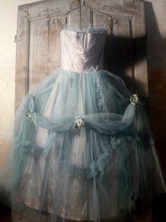 vintage tule droomjurk