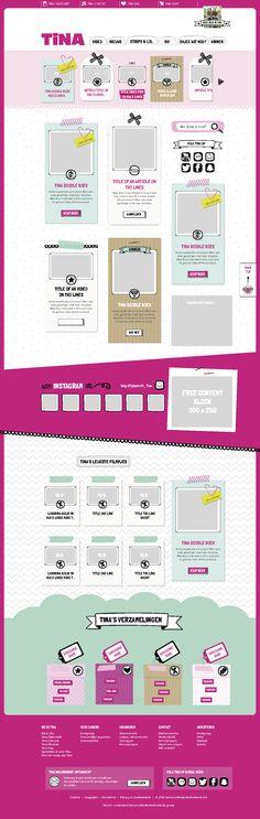 UI design for the new website of #Tina (girls magazine) @ Sanoma) designed in Sketch (live sep 2016)