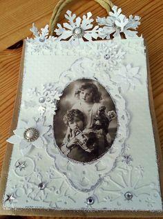 Kreativ Glede - Scrapglede: Gavepose - hvit jul