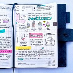 Filofax as diary. Cute idea!