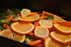 Italian Roast Chicken with Citrus Veggies