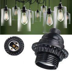 E26 / E27 ретро Урожай свет гнездо бесключевого висячие подвесной светильник потолочное освещение держатель
