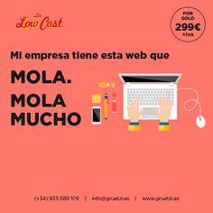 Páginas web que molan, molan mucho. Y por solo 299€+IVA.