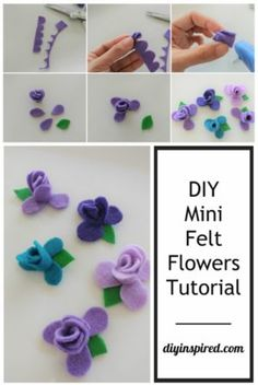 How to make these easy and inexpensive DIY No Sew Felt Flowers, including a quick DIY video tutorial and step by step photo instructions.