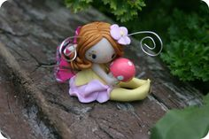 Reserved for Locatto  Fairy figurine and by TheDollAndThePea