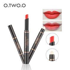 O.TWO.O New Arrival 12 Colors Lip Stick Matte Lipstick Double- Head Waterproof Matte Lipsticks Moisturize LipSticks Pen Cosmetic #Affiliate