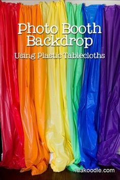 rainbow photo booth