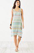 plus size dipped-hem print tank dress | J.Jill