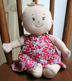 FREE reversible dress for Baby Stella Doll  this is Allana's doll - so you can get an idea @hannahjoslyn