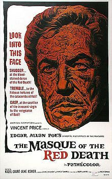"""The Masque of the Red Death"" directed by Roger Corman, photographed by Nicolas Roeg and starring Vincent Price with Hazel Court and Jane Asher. Horror Movie Posters, Movie Poster Art, Poster Poster, Poster Ideas, Art Posters, Print Poster, Jane Asher, Vincent Price, Film Movie"