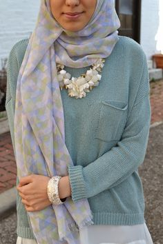 Hijab outfit #necklace