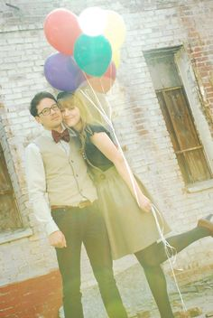Might as well...A Sweet Hipster Spin To This Throwback Feel Engagement Photo Session.