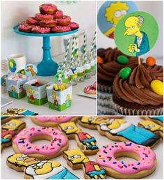 The Simpsons themed birthday party with SUCH AWESOME IDEAS via Kara's Party Ideas | KarasPartyIdeas.com Favors, games, printables, cakes, an...