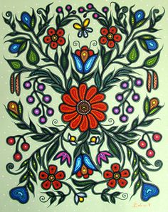 Easy Canvas Painting, Dot Painting, Painting Patterns, Rosemaling Pattern, Abstract Iphone Wallpaper, Beadwork Designs, Native American Beadwork, Indigenous Art, Colorful Paintings