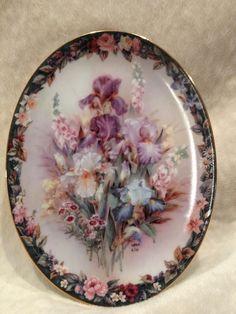 "#Bradford Exchange / Lena Liu Floral Cameos Plate 3 ""Cherished"" #art"