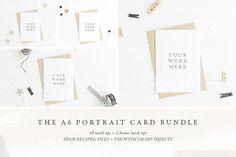 BUNDLE: 12 x A6 card mock ups - Pt by White Hart Design Co. on @creativemarket
