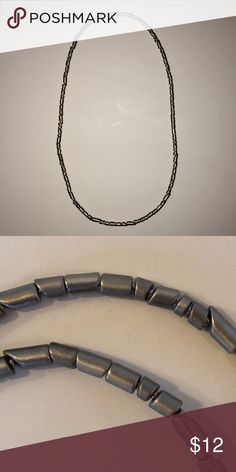 """COS necklace Minimalist necklace from Cos Made of steel beads from slightly varying sizes Length - 13"""" COS Jewelry Necklaces"""