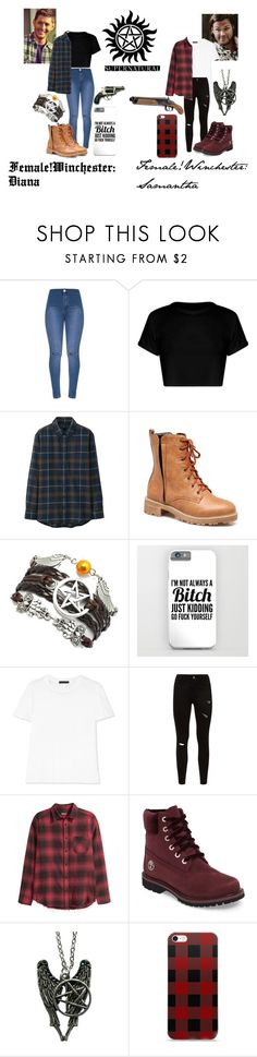 """""""Female!Winchester"""" by eboniionpoly ❤ liked on Polyvore featuring Uniqlo, The Row, H&M and Timberland"""