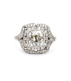 The Diamond Diva Ring The OG Halo from the 20s.